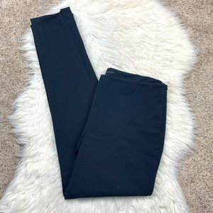 Theory Navy Blue Slim Straight Tapered Leg Pants